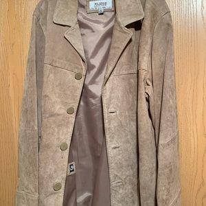 Tan xl suede men's jacket